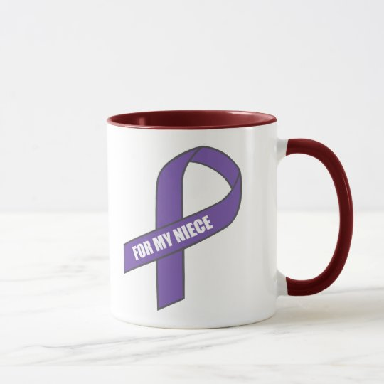 For My Niece (Purple Ribbon) Mug