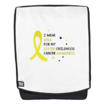 For My Sister childhood cancer awareness Fighting Backpack