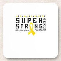 For My Sister childhood cancer awareness Fighting Beverage Coaster