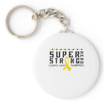 For My Sister childhood cancer awareness Fighting Keychain
