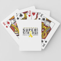 For My Sister childhood cancer awareness Fighting Playing Cards