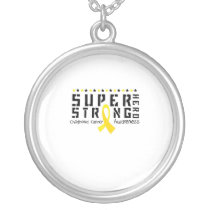 For My Sister childhood cancer awareness Fighting Silver Plated Necklace