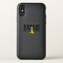 For My Sister childhood cancer awareness Fighting Speck iPhone X Case