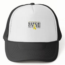 For My Sister childhood cancer awareness Fighting Trucker Hat
