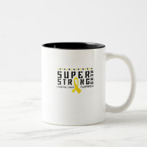 For My Sister childhood cancer awareness Fighting Two-Tone Coffee Mug