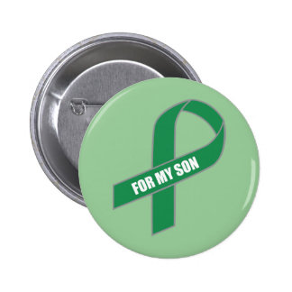 For My Son (Green Ribbon) 2 Inch Round Button