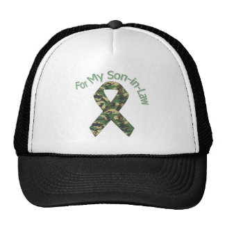 For My Son-in-Law Military  Ribbon Trucker Hat