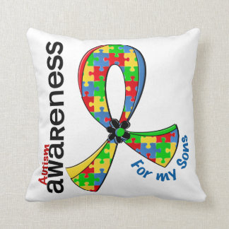 For My Sons Autism Throw Pillow