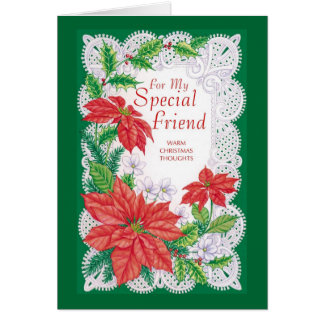 For My Special Friend Warm Christmas Thoughts Card
