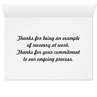 thank you card for sponsors Thank You Sobriety Gifts on Zazzle