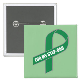 For My Step-Dad Green Ribbon Buttons