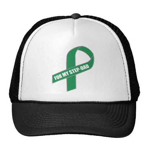 For My Step-Dad (Green Ribbon) Trucker Hat