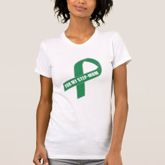For My Step-Mom (Green Ribbon) T-Shirt