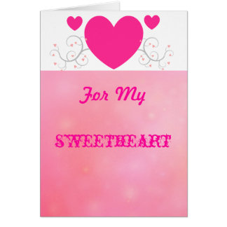 For My Sweetheart Greeting Cards