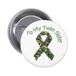 For My Twin Sister Military  Ribbon Button