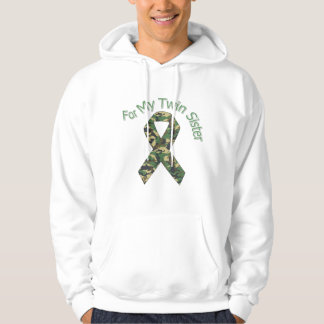 For My Twin Sister Military  Ribbon Hoodie