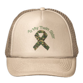For My Twin Sister Military  Ribbon Trucker Hat
