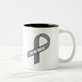 For My Uncle Gray Silver Awareness Ribbon Coffee Mug