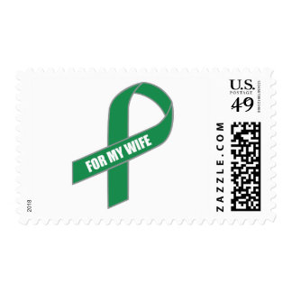 For My Wife (Green Ribbon) Postage Stamp