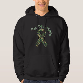 For My Wife Military Ribbon Hoodie