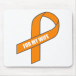 For My Wife (Orange Ribbon) Mouse Pads
