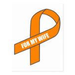For My Wife (Orange Ribbon) Postcards