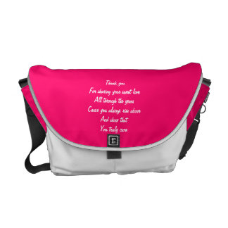 For my wife valentines courier bag