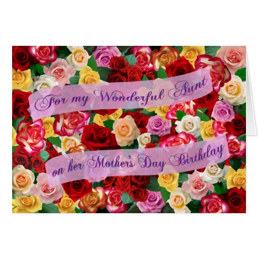 For my Wonderful Aunt on her Mother's Day Birthday Cards