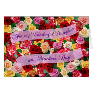For My Wonderful Daughter on Mother's Day - Roses Card