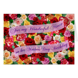 For my Wonderful Niece on Mother's Day Birthday Greeting Card