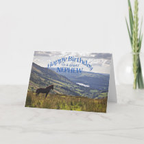 For nephew a horse and landscape birthday card