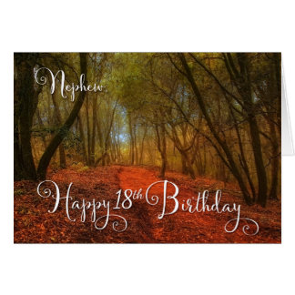 for Nephew's 18th Birthday - Woodland Path Card