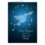 For Niece and family,  Dove of peace Christmas Greeting Card