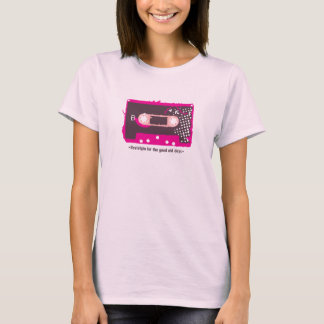 For nostalgia the old days - Pink Cassette T-Shirt