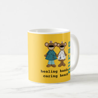 For Nurse. Fun Teddy Bear Design Gift Mugs