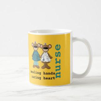 For Nurse. Fun Teddy Bear Design Gift Mugs