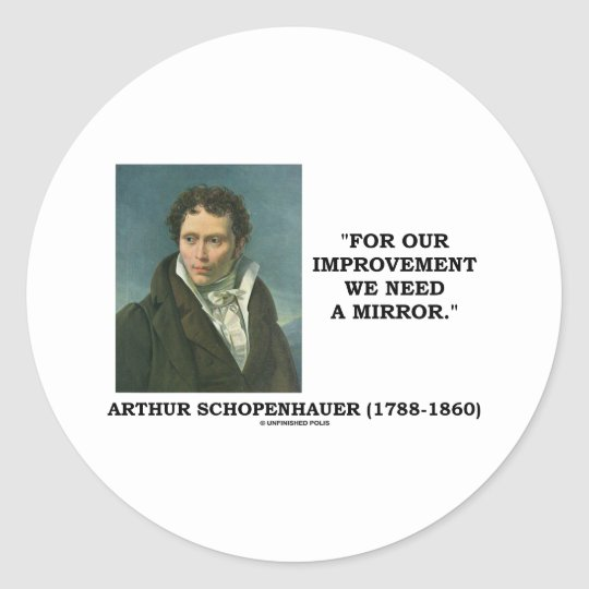 For Our Improvement We Need A Mirror Quote Classic Round Sticker