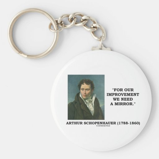 For Our Improvement We Need A Mirror Quote Key Chain