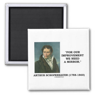 For Our Improvement We Need A Mirror Quote 2 Inch Square Magnet