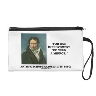 For Our Improvement We Need A Mirror Schopenhauer Wristlet Clutch