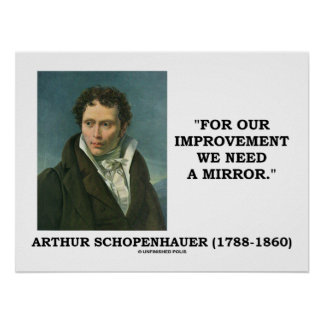 For Our Improvement We Need A Mirror Schopenhauer Poster