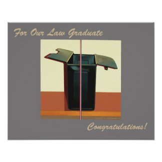 For Our Law Graduate Congratulations Poster Lawyer