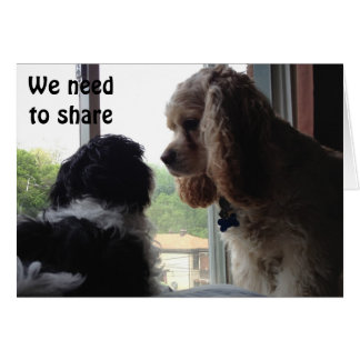 FOR OUR SHARED BIRTHDAY-PUPS IN A WINDOW CARD