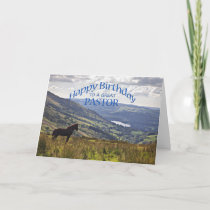 For Pastor a horse and landscape birthday card