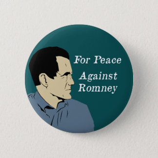 For Peace Against Romney button