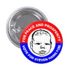 For Peace and Prosperity Button