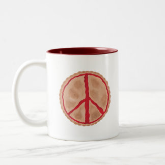 For peace cherry peace pie mugs