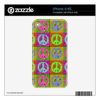 FOR PEACE iPhone Skin Decal For The iPhone 4