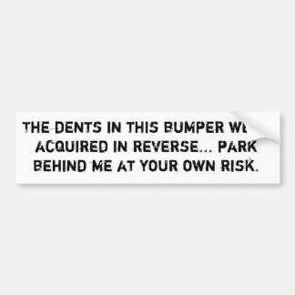 For People Who Have Mad Reverse Skills Bumper Sticker