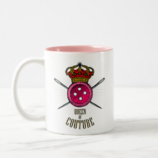 For People Who Love Sewing: Queen of Couture Color Two-Tone Coffee Mug